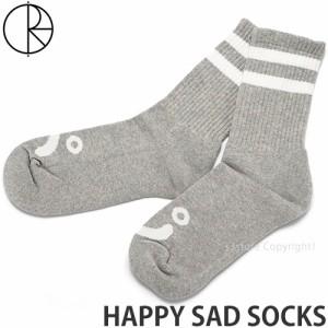 ポーラー スケート カンパニー HAPPY SAD SOCKS カラー:SPORT GREY