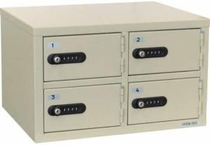 エーコー 貴重品保管庫 4BOX ロッカー ダイヤル錠 LK-304