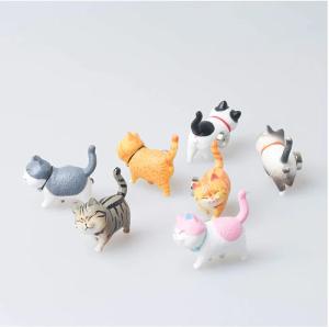 9個のかわいい猫用冷蔵庫用マグネット 楽しい猫用冷蔵庫用マグネットオフィスマグネット ホワイトボード 冷蔵庫 メモ カレンダー 地図 写