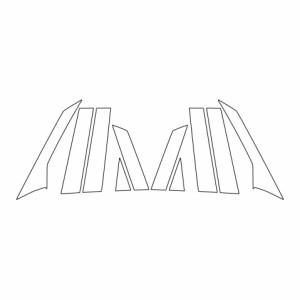 ハセプロ《マジカルアートシート》ピラー フルセット ホンダ フィット GR1〜8 2020.2〜