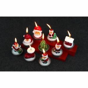 キャンドル ろうそく クリスマス/パーティー/店舗/家庭/法人用 蝋燭 3点セット 6種類選択可 クリスマス 飾り 雰囲気作り パーティグッズ