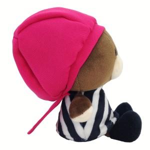 くまのがっこう ジャッキー やわらか ビーンドール ピンク帽子