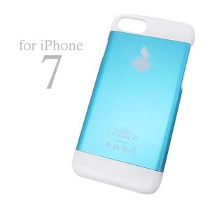 アリス iPhone7専用 アルミケース (アイフォンケース iPhone 7 対応) ブルー (ふしぎの国のアリス) ディズニー モバイ