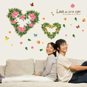 ウォールステッカー【Love at first sight】壁紙 シール 賃貸OK はがせる 剥がせる DIY 模様替え インテリア