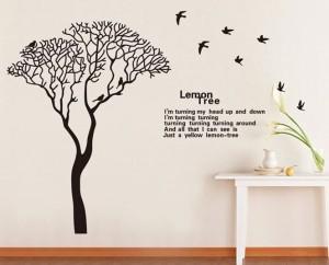 ウォールステッカー【Lemon Tree】壁紙 シール 賃貸OK はがせる 剥がせる DIY 模様替え インテリア 木 ツリー