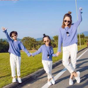 【新店キャンペーン!レビュー投稿ポイント返還】ペアルック 子供サイズ トップス Tシャツ 親子ペア パパとママと子供の親子衣装 兄弟 姉