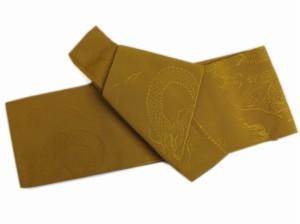簡単粋なメンズ男物男性ワンタッチ結び角帯金茶色地龍 浴衣&着物に 日本製