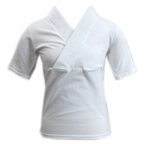 半襦袢 半じゅばん Tシャツ 女性用 洗える 白色 M L LL 日本製 和装 着物 肌着 下着