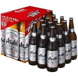 アサヒ スーパードライ 大瓶 633ml 12本 ギフトセット EX 12 送料無料(一部地域除く) 熨斗対応  EX-12 お中元 お歳暮 お祝い 父の日 敬