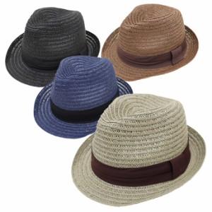 麦わら帽子 メンズ 帽子 大きいサイズ ストローハット 最大65cm&61cm ビッグサイズブレードペーパー無地 exas