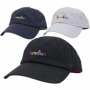 帽子 キャップ メンズ レディース ローキャップ サイズ調節可能 ベネトン BENETTON マルチカラーエンブロイダー exas