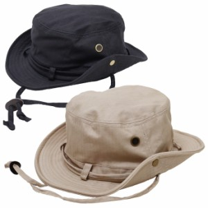 帽子 メンズ 大きいサイズ サファリハット アドベンチャーハット アウトドア キャンプ 62cm対応 ひも付き ワイヤー入り コットン ヘリン