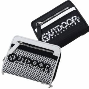 二つ折り 財布 メンズ OUTDOOR アウトドア メッシュポケット ラウンドファスナー 全国送料無料 ゆうパケット発送限定 exas