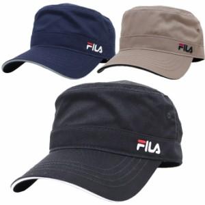 帽子 キャップ メンズ レディース ワークキャップ レールキャップ フィラ FILA ベーシック ツイル ロゴ刺繍 exas