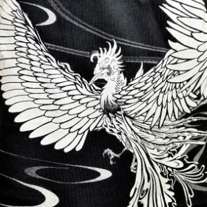 和柄ニット帽子キャップ メンズ 薄手オールシーズンワッチキャップ 絡繰魂鳳凰龍鯉ロゴ刺繍 おしゃれカジュアル フリーサイズ 273132
