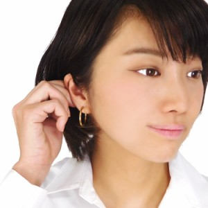 ステンレスピアス シンプルラインカラーフープピアス(両耳用) ワンタッチ 金属アレルギー対応 リング サージカルステンレス
