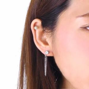 ステンレスピアス コネクトクラウンジュエルステンレスピアス(両耳用) 金属アレルギー 316L