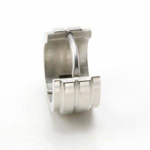 ステンレスピアス シングル&ダブルシェルフープピアス(両耳用)フープピアス 金属アレルギー 316L
