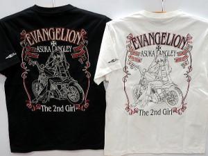 エヴァンゲリヲンX LOW BLOW KNUCKLEコラボ 半袖Tシャツ アスカバイカー