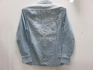 エヴァンゲリオンX 錦コラボ  長袖シャツ 三位一体プリント  EVA × NISHIKI