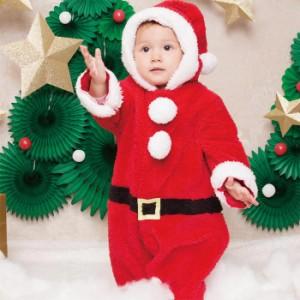 e6fb83814e509 ベビー マシュマロ サンタ あったか ロンパース ロンパス 着ぐるみ キッズ 子供服 コスプレ コスチューム クリスマス サンタコス レッド