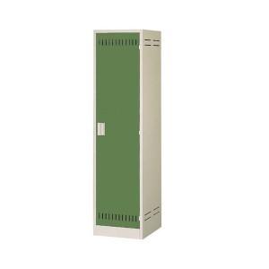 掃除用具ロッカー ニューグレー×ゴールドグリーン COM-NCP(代引き不可)【送料無料】