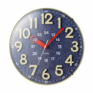 ノア精密 MAG 掛け時計 アナログ電波ウォールクロック W-750 BU 電波時計 夜間秒針停止機能 かわいい【送料無料】