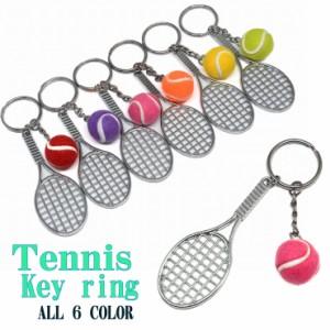 【メール便対応】テニスキーホルダー -03 キーリング ミニチュア チャーム ラケット スポーツ 部活 サークル 立体 3D ストラップ カジュ