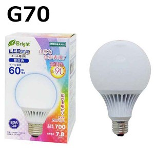 LED電球 ボール E26 60W相当 昼白色 広配光 高演色 密閉器具対応 E-Bright LDG8N-G 7DAS20 06-2992 オーム電機 OHM