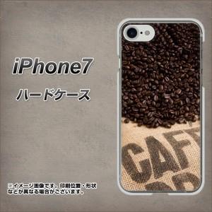 iPhone7 ハードケース / カバー【VA854 コーヒー豆 素材クリア】 UV印刷 (アイフォン7/IPHONE7用)