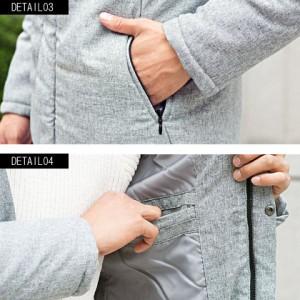 中綿ジャケット メンズ アウター ブルゾン 冬 CavariA キャバリア ビッグフード付き 全3色 アウター ブラック 黒 グレー チャコール M L