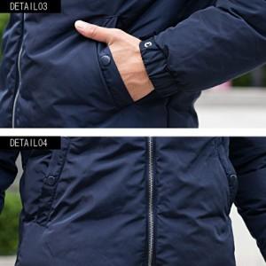 切り替え 中綿 ブルゾン フード メンズ VICCI ビッチ フード付き 配色切替 ブルゾン 全2色 襟 ジップ アウター 軽い 軽量 防寒 秋冬