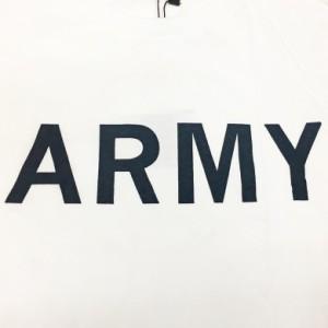 【メール便対応商品】ARMYプリントクルーネックTシャツ  アーミー プリントTシャツ 半袖Tシャツ ー 28555