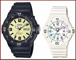 68aa9b9a0b CASIO【カシオ/スタンダード】アナログクォーツ ペアウォッチ 腕時計 ラバー ブラック/ホワイト 海外