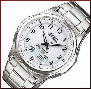 9b52a2d8d5 【カシオ/CASIO】Wave Ceptor/ウェーブセプター メンズ ソーラー電波腕時計 ホワイト文字
