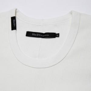 Black by VANQUISH ブラックバイヴァンキッシュ 5分袖 五分袖 ハーフスリーブ テレコ アンダーウェア TEE Tシャツトップス