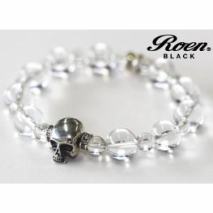 86563ed5be2ffc RoenBLACK ロエン アクセサリー クリスタル スカル ブレスレット パワーストーン 数珠