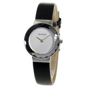 スカーゲン SKAGEN レオノーラ クオーツ レディース 腕時計 SKW2428 ブラック