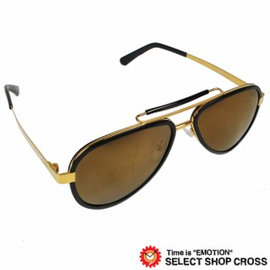 GAGA MILANO ガガミラノ サングラス アイウェア ファッション ブラックゴールド/ブラウンレンズ/ゴールドミラー LU54AC BKG BLACK FL