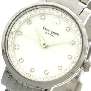 db6bf9871f61 ケイトスペード KATE SPADE 腕時計 レディース KSW1241 クオーツ シェル シルバー