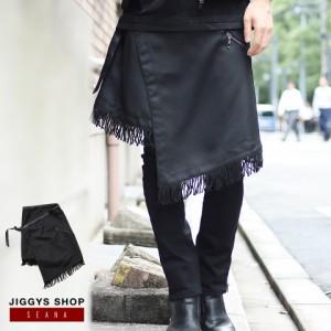 新春セール!! ラップスカート メンズ 巻きスカート ヴィジュアル系 V系 SEANA JIGGYS / ダイヤジャガードアシメキルト