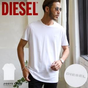 【さらに最大15%OFFクーポン】 DIESEL ディーゼル ワンポイントロゴTシャツ ブランド Tシャツ メンズ おしゃれ ティーシャツ 半袖 カッ