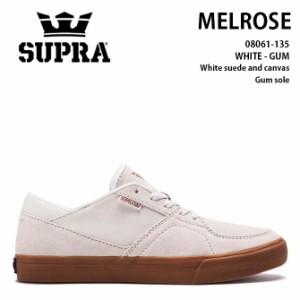 【半額セール/50%オフ】SUPRA(スープラ) MELROSE(メルローズ) WHITE-GUM シューズ スニーカー スケートライン
