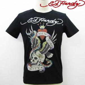 エドハーディー ED HARDY メンズ Tシャツ スペシャル クルーネック 丸首/NEW YORK CITY ニューヨーク 【M02JBSC057】