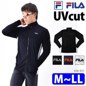 91d671bab0b FILA フィラ ラッシュガード メンズ UVカット ジャケット 長袖 ハイネック ゆったり 体型カバー M/L