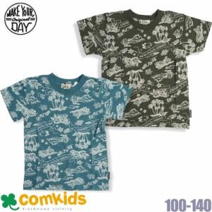dcaf9f41db420 MAKE YOUR DAY(フィクスラボ)アロハ柄半袖Tシャツ(キッズ 子供服