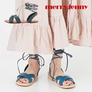 【SALE70%OFF】メリージェニー merry jenny 通販 おほしさまレースアップサンダル ぺたんこ サンダル レースアップシューズ レディース