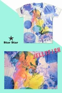 JELLYFISH半袖Tシャツ◆STARSTAR/和柄