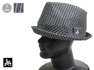 中折れストライプハット tch-1765 ターゲット target 帽子 HAT デニム[mij_g][mij]