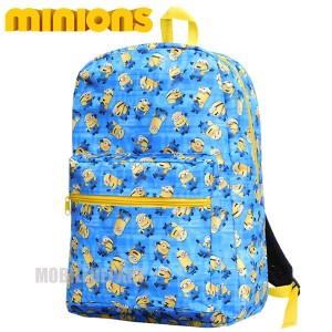 ミニオンズ リュック レディース キッズ ミニオン リュックサック 女性 子供 かわいい 高校生 通学バッグ 人気 おしゃれ ブルー